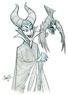 Patreon Sketch Request of the Week: Malificent by tombancroft on deviantART