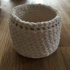 Round Crochet Basket, Cotton Basket, Small Storage Basket, Crochet Basket by GracieRoseHandmade on Etsy