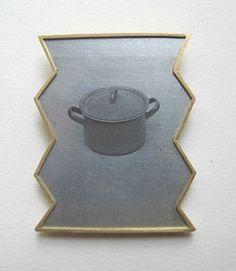 Bettina Speckner,  Brooch 2007 Photoetching/Zinc; Gold 750/000