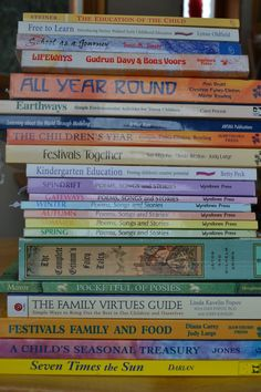 some already on the shelf, some being pondered over. What will work for me and mine? Waldorf Preschool, Waldorf Curriculum, Waldorf Kindergarten, Kindergarten Books, Waldorf Education, Early Childhood Education, Early Education, Kids Education, Montessori