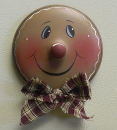 Gingerbread metal lid magnet