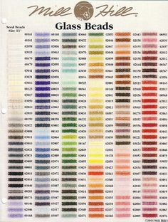 Mill Hill Glass Seed Beads - / Approx 500 - Size - Choice Of Colour Santa Cross Stitch, Beaded Cross Stitch, Cross Stitch Charts, Cross Stitch Designs, Cross Stitch Embroidery, Cross Stitch Patterns, Mill Hill Beads, Halloween Embroidery, Beading Tools