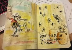 Wreck this Journal - Poke holes in this page using a pencil