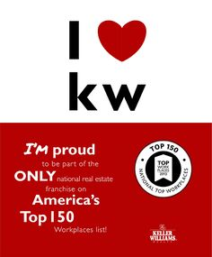 Keller Williams Realty, Inc. Named One of America's Top Workplaces. Keller Williams announced today that WorkplaceDynamics has named it the No. 9 workplace in America – the only national real estate franchising company on the National Top 150 Workplaces list.  #KellerWilliams #KellerWilliamsSouthFloridaRealtor