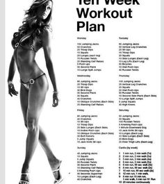 Teen workout plan (I go by this and it really works I lost five pounds this week and a half)