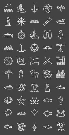 50 Sea Line Inverted Icons – Icons – William – diy best tattoo ideas - diy tattoo images Mini Tattoos, Body Art Tattoos, Small Tattoos, Cool Tattoos, Tatoos, Small Anchor Tattoos, Small Tattoo Symbols, Small Beach Tattoo, Small Octopus Tattoo