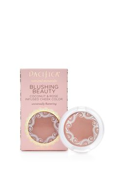 Coconut and Rose Infused Cheek Colours by Pacifica. A pressed mineral blush ready to put the finishing touches on your natural makeup look. 100% vegan