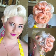 Hair by Dawn Dominick a.k.a. on IG @bangbangbetty1 instagram.com/hotonbeauty retro-40s hairstyle