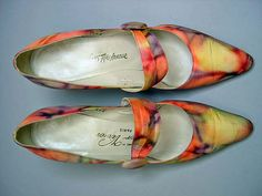 Roger Vivier  Pumps  French 1960 Silk, leather