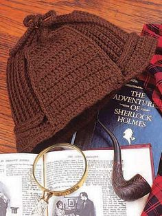Ravelry: Deer Stalker Hat pattern by Colleen Sullivan - Imagining this with a little Uncle Eddy (Christmas Vacation) added to it. :)