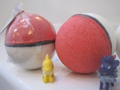 POKEBOMS Bath bombs with Pokemon figure by BerwynBettysBathShop