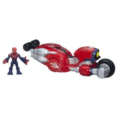 Playskool Heroes Marvel Super Hero Adventures Web-Wheelin' Bike with Ultimate Spider-Man