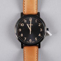 Timex Original Classic Round - Black Face/Tan Strap (Image 1)