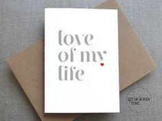Valentine Card Valentine's Day Card Love Card by GraciousMeShop