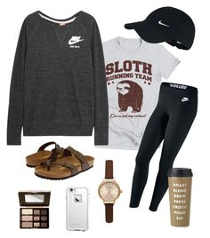 Apr 2020 - A fashion look from June 2016 by alexlindsey featuring NIKE, Birkenstock, Olivia Burton, LifeProof, Too Faced Cosmetics and Kate Spade Fall College Outfits, Lazy Day Outfits, Cute Comfy Outfits, Preppy Outfits, Casual Fall Outfits, Outfits For Teens, Cool Outfits, Summer Outfits, Winter Outfits