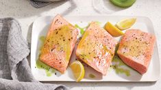 0918 New Coastal Classics - Olive Oil-poached Salmon with Herb Oil image Shrimp Recipes, Salmon Recipes, Fish Recipes, Drink Recipes, Fish Dishes, Seafood Dishes, Best Salmon Recipe, Poached Salmon, Quick Easy Meals