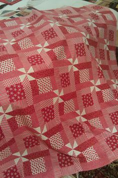 Rhonda's Red Quilt---cute quilt for Valentine's Day