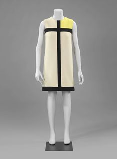 1965, France - Mondrian dress by Yves Saint Laurent - Wool, silk
