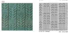 001 nice beautiful knitting stitch pattern lace aran красивые узоры на спицах