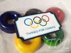 #DIY #Olympics #Rings #Crayon Party #Favors with #FREE printable label