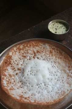 Homemade Appam Recipe / Easy Appam Recipe / Appam Batter in Mixie Indian Breakfast, Breakfast Items, Breakfast Recipes, Snack Recipes, Cooking Recipes, Cooking Tips, Indian Snacks, Indian Food Recipes, Kerala Recipes