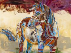 Find Blue Feather and other original horse paintings from Montana artist Carol Hagan on the Carol Hagan Studios website.