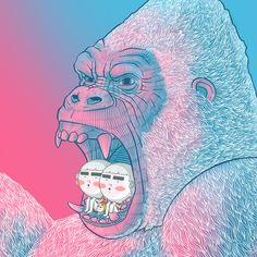 King Kong was angry.