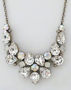 Perfect Details - Sorrelli Crystal & Opal Statement Necklace Sorrelli Crystal & Opal Statement Necklace - Jewelry