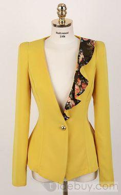 New Lovely Slim Swallow Tail Long Sleeves Korean Blazer Blazer Fashion, Hijab Fashion, Fashion Dresses, Blazers For Women, Suits For Women, Jackets For Women, Blazer Dress, Blazer Jacket, Floral Blazer