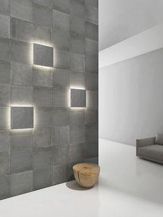 Wall-mounted decorative panel / wood / concrete / 3D CHEVRON itaibaron