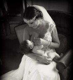 Breastfeeding bride prompts huge wave of nuptial nursing pride