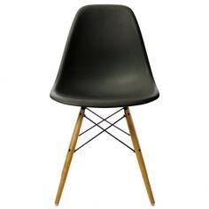 Eames DSW tuoli korkea, musta/vaahtera