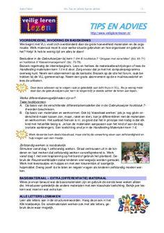 Veilig Leren Lezen: tips en advies