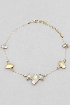 Crystal Nella Necklace on Emma Stine Limited