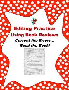 Task card or worksheet formats! Students edit 2-3 sentences using a ...
