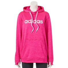 Women's Adidas Hooded Fleece Sweatshirt, Size: