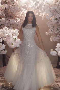 Discover our new bridal collection, 'Fallen For You', featuring tiered ruffle wedding gowns, embellished wedding dresses and soft ombre ballerina length skirts. Making A Wedding Dress, Classic Wedding Dress, Dream Wedding Dresses, Bridal Dresses, Wedding Gowns, Wedding Girl, Needle And Thread Dresses, Traditional Gowns, Wedding Dress Patterns