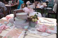 Tea garden setting