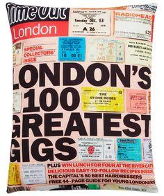 London's Greatest Gigs 1814 Cushion
