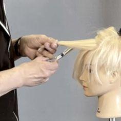 Hair Cutting Videos, Hair Cutting Techniques, Volume Haircut, Short Hair Cuts, Short Hair Styles, Beautiful Long Hair, Pixie Haircut, Silver Hair, Hair Designs