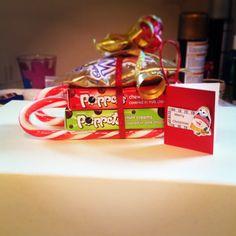 Handmade by Nicole Murphy Santa sleigh filled with goodies!