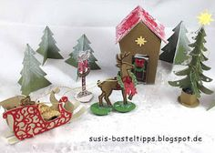 """Susis Basteltipps: Märchenland mit Stampin' Up! Framelits """"Ein Haus für alle Fälle"""" (Home Sweet Home): Weihnachtslandschaft"""