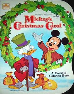 Mickeys Christmas Carol Coloring Book