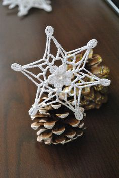 Crochet snowflakeChristmas decorationWinter Hanging by UpRo