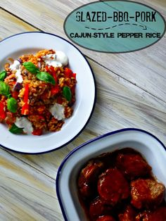 The Spoon and Whisk: Glazed BBQ pork and Cajun-style pepper rice