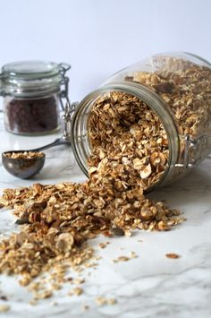 Baked Granola  This easy granola recipe is a healthy option for any breakfast or snack. Made with a mix of energy-rich oats such as rolled oats, buckwheat and spelt oats its a great kick start to the day.