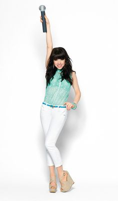 Carly Rae Jepsen hits a high note in turquoise tones. #Rocking #Candies #Kohls