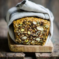 Based off the traditional Nordic bread. This bread is made with nuts, seeds, raisins, egg, coconut oil, and turmeric.
