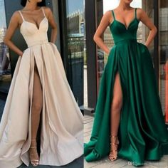 High Split Evening Dresses 2019 with Dubai Middle East Formal Gowns Party Prom Dress Spaghetti Straps Plus Size Vestidos De Festa Best Picture For Evening Dress summer For Your Taste You are looking f Pageant Dresses For Women, Prom Party Dresses, Prom Gowns, Dresses Dresses, Ball Dresses, Long Dresses, Occasion Dresses, Sexy Long Dress, Simple Prom Dress