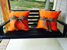 Fall, Harvest, Halloween porch pillows